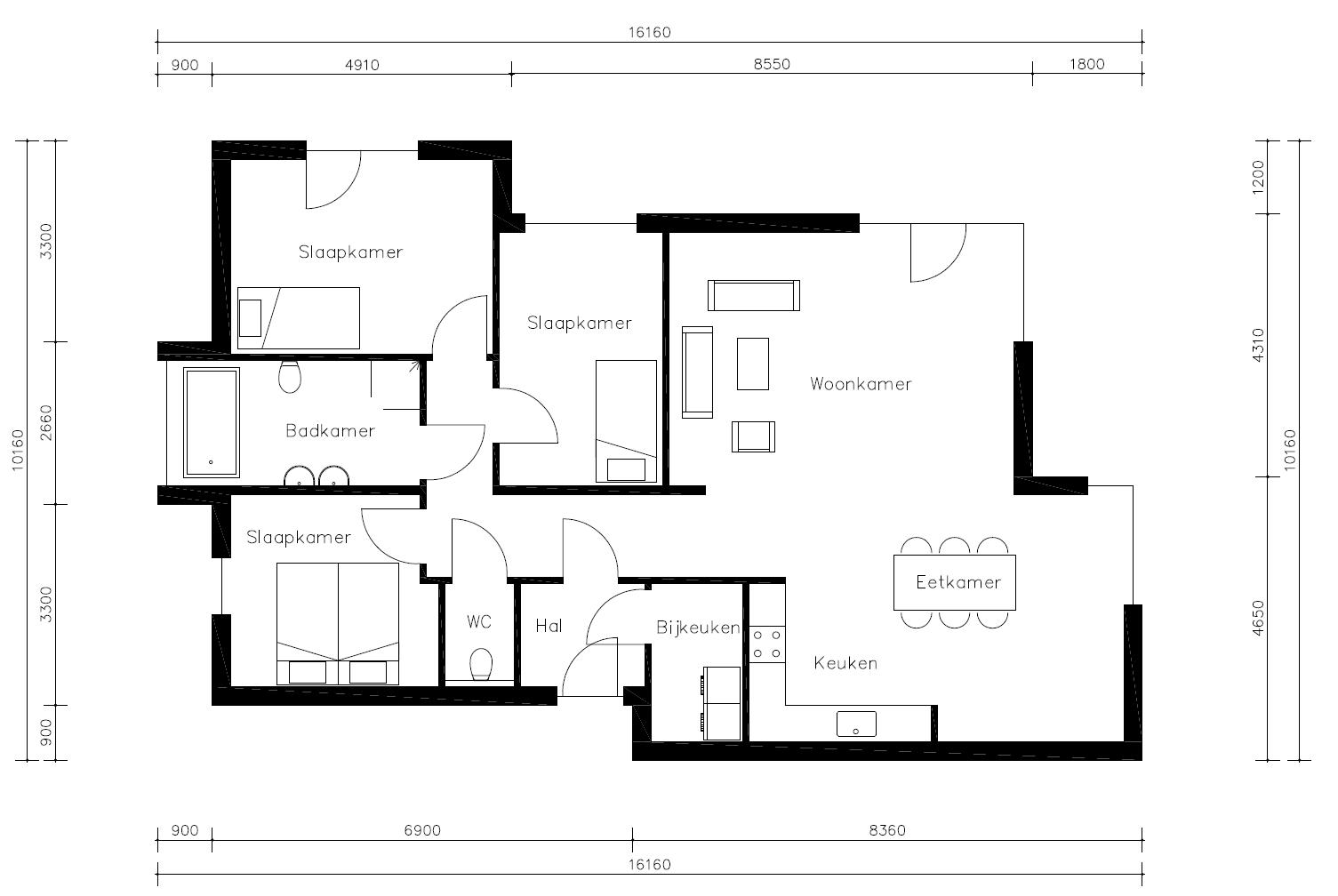 Plattegrond Keuken Ontwerpen : eVilla moderne bungalow ZX65 – eVilla